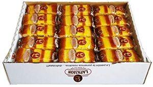 Bizcocho con crema pastelera, envuelto individualmente caja 2 Kg