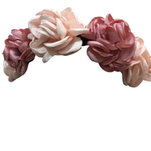 Diadema de Flores Rosas - Enriqueta
