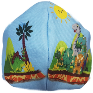 Mascarilla de Tela - Dinosaurios Infantil