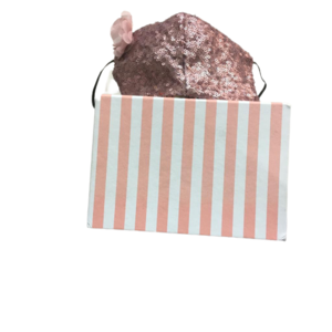 Mascarilla de Tela Reutilizable - Enriqueta rosa palo