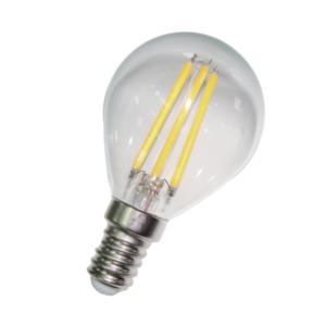 Bombilla Esférica LED E14 4 Watios 2700ºk Blanco Cálido