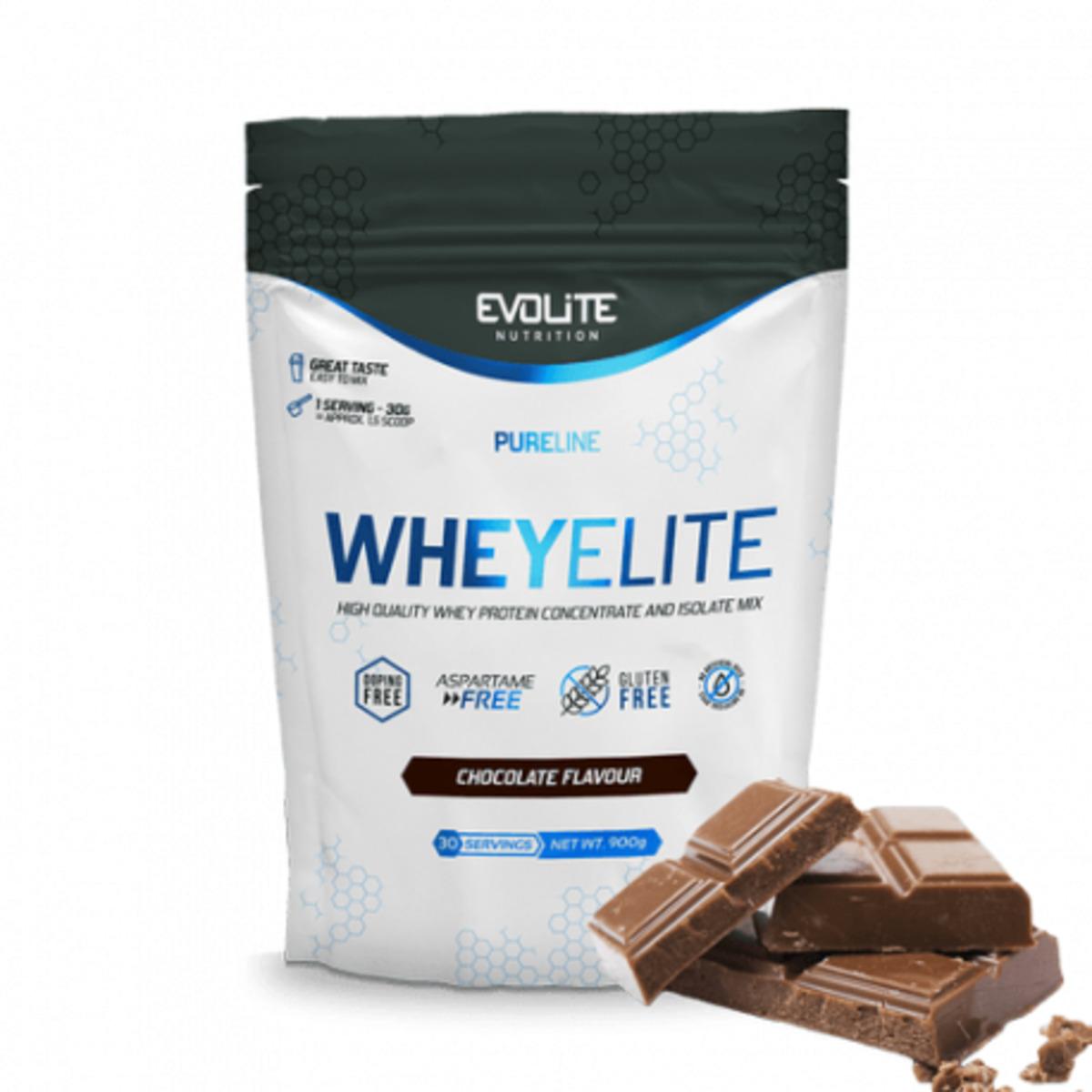 EVOLITE WHEY ELITE 900G - Sabor Chocolate
