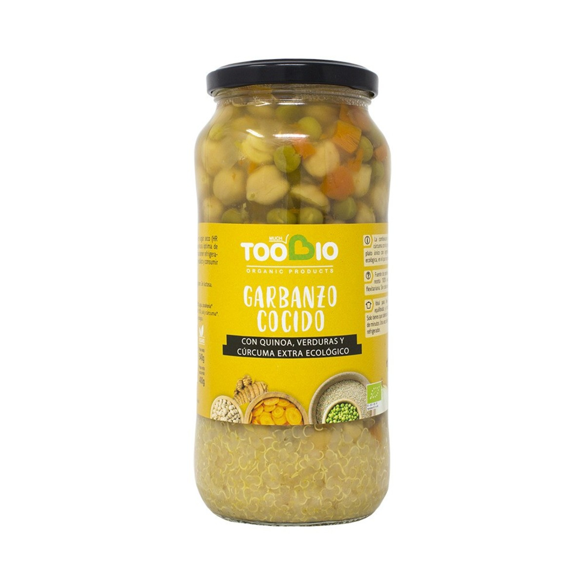Garbanzos Quinoa Verduras 540gr Ecológicos. Too Bio