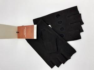 Guantes de piel para conducir, sin dedos de la marca STETSON. color negro