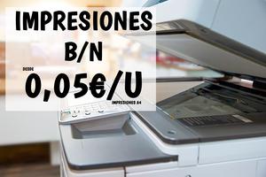 100 IMPRESIONES BLANCO Y NEGRO A4
