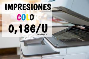 100 Impresiones a color A4