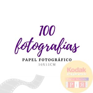 Impresión 100 Fotografías -  Papel Fotográfico
