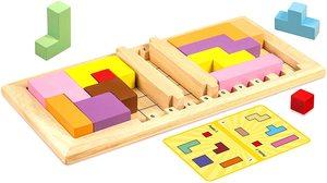 KATAMINO Family de madera - Puzle-juego de madera para 2 jugadores