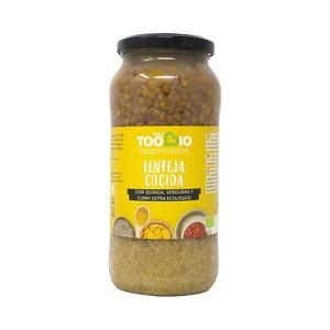 Lentejas Quinoa Verduras 540gr Ecológico. Too Bio