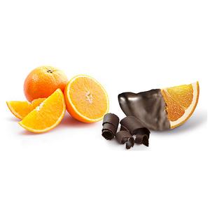 Gajos de naranja confitada con chocolate bolsa 1Kg (leticias).