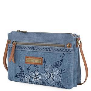 Lois - Bolso bandolera Triple bolsillo con cremallera - 25 x 18 x 3 cm.