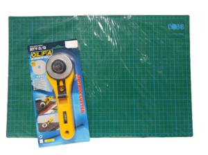 Mesa costura con medidas para cortar + cúter de 60mm