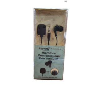 Micrófono omnidireccional con auricular