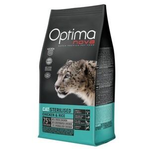Pienso natural de pollo y arroz para gatos esterilizados Optima Nova