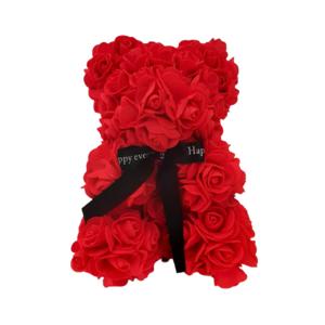 Oso de rosas Foam rojo