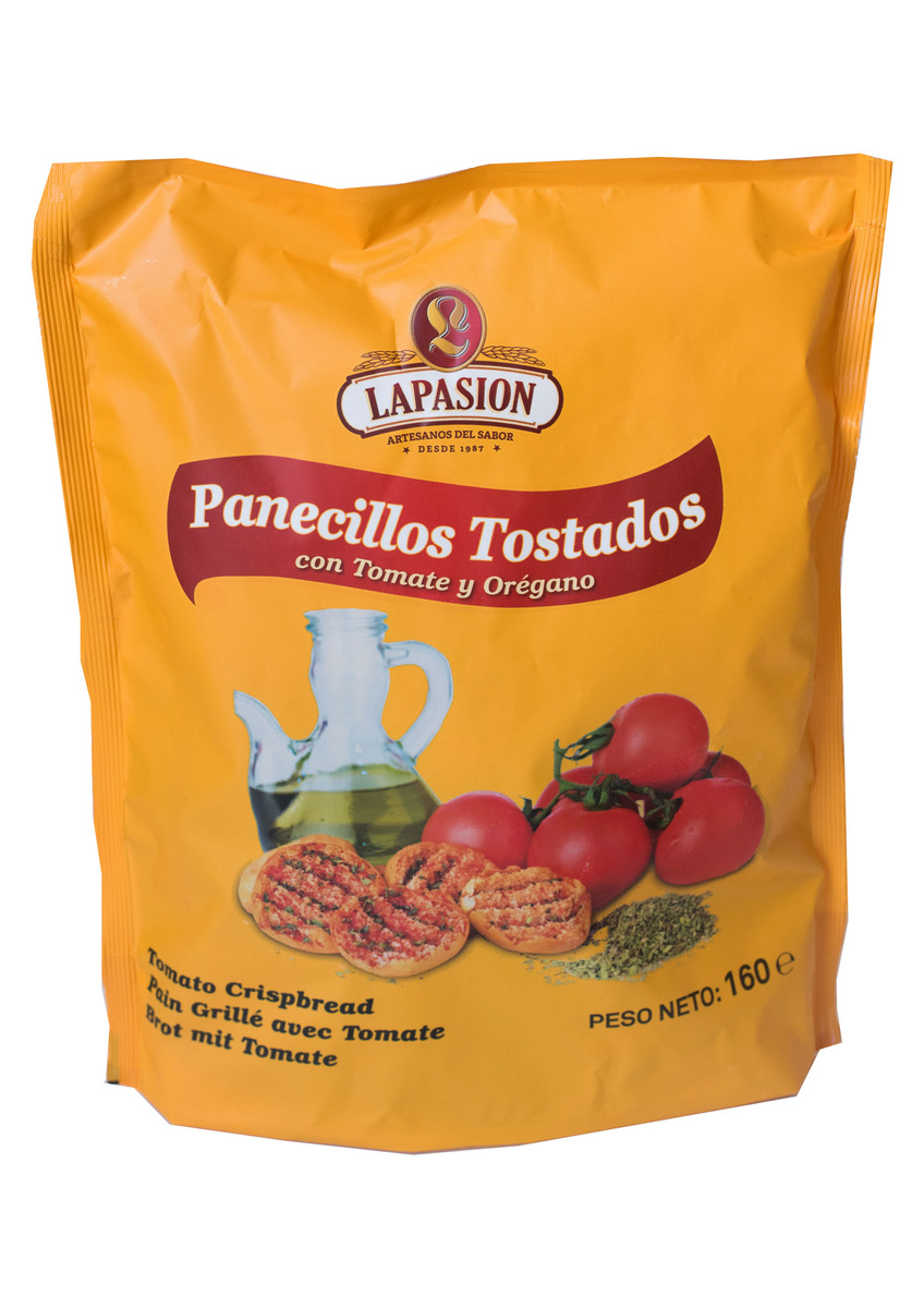 Panecillos tostados con tomate y orégano 160g por 12 paquetes