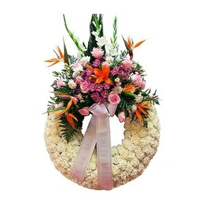 Paz corona fúnebre