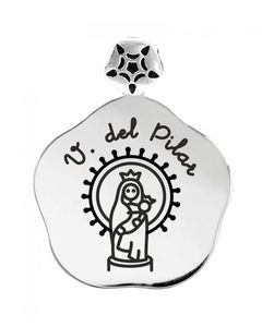 Medalla grabada de la Virgen del Pilar