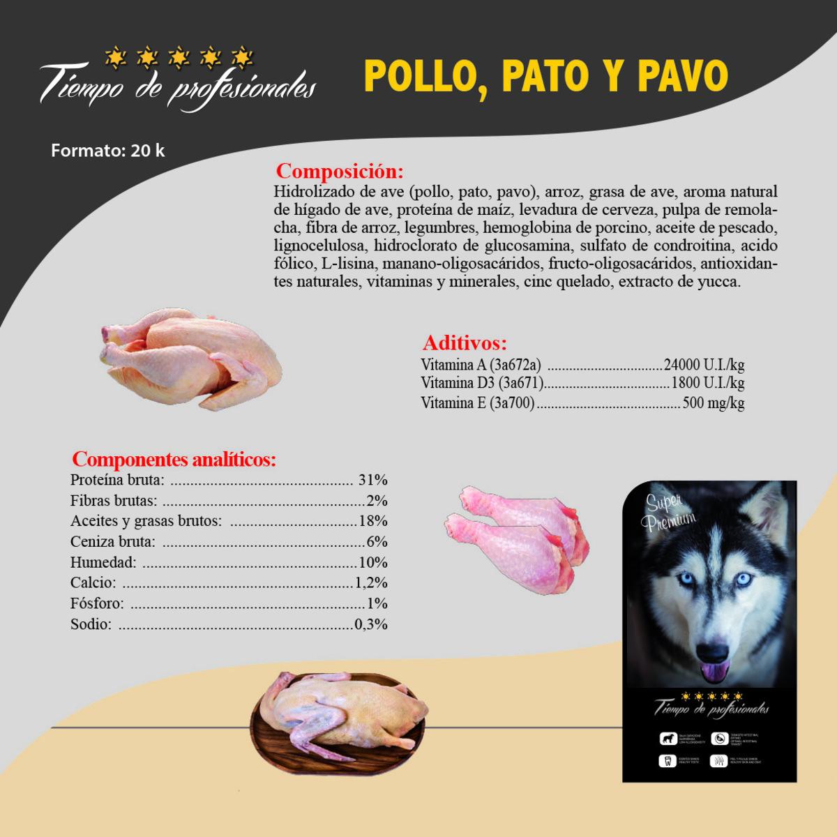 Pollo, Pato y Pavo 20kg