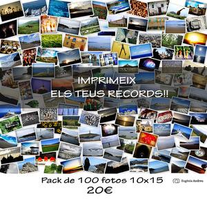 Promo 100 fotos- Impresión FUJI 10x15