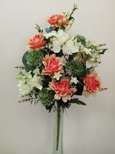Ramo artificial encarado Dalia-hortensia x 12 flores