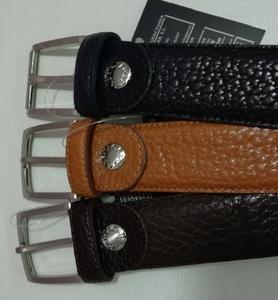 Cinturón de piel negro de talla grande 1,20m. de cintura