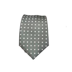 Corbata verde puntos