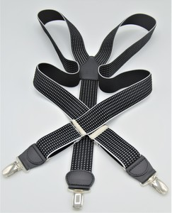 Tirante PERTEGAZ color negro con topitos cuadrados en blanco
