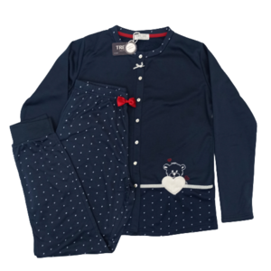 Pijama Tress con felpa abierto botones