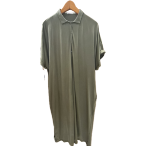 Vestido oversize de punto de algodón