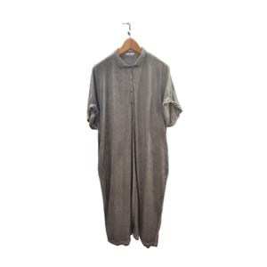 Vestido oversize de punto de algodón gris