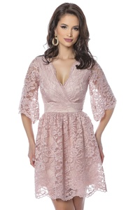 Vestido Corto Rosa Empolvado