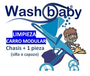 Limpieza de carrito de bebé modular: Chasis + 1 pieza (capazo o silla)