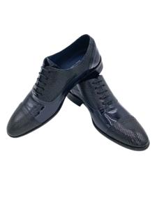 Zapato Charol Negro-Marino